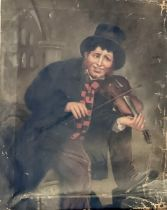 Continental School, late 19th century, The fiddler