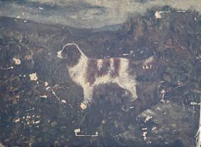 E M Nelson 1929, a spaniel, oil on canvas . 45cm H