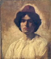French School, late 19th Century, portrait of an A