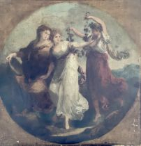 After Angelica Kauffmann (1741-1807), Beauty suppo