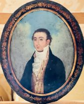 English School, 19th century, portrait of a young