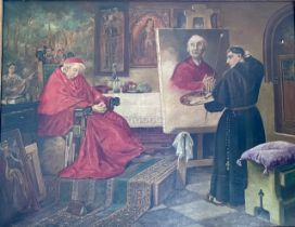 """After Toby Rosenthal, """"the cardinals portrait', oi"""
