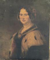 English School, circa 1840, portrait of a lady, h