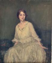 Eva Roos (1872-1956), portrait of a lady, three qu