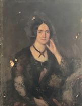 English School, circa 1840, portrait of young lady