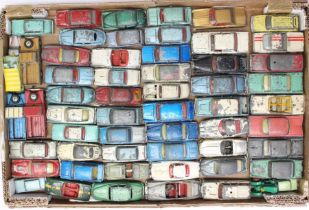 Diecast: A collection of assorted playworn, vintage diecast vehicles to include: Dinky, Corgi and