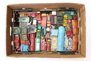 Diecast: A collection of assorted playworn, vintage diecast vehicles to include: Corgi including