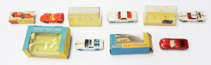 Diecast: A collection of five boxed diecast vehicles to comprise: Dinky Alfa Romeo OSI Scarabeo,