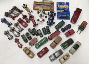 Diecast: A collection of assorted diecast to include, Corgi, Dinky, Matchbox, Brummell, some with
