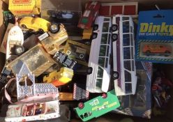 Diecast: A collection of assorted diecast vehicles in playworn condition, approximately 50 to