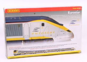 Hornby: A boxed Hornby OO Gauge, Eurostar Train Pack, R2379, contents complete. Outer box showing