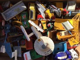 Diecast: A quantity of assorted playworn diecast vehicles to include Corgi, Matchbox, Dinky etc.