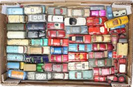 Diecast: A collection of assorted playworn, vintage diecast vehicles to include: various Dinky,