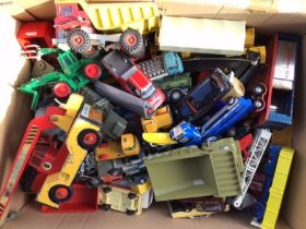 Diecast: A collection of assorted vintage playworn vehicles, approximately 100 to include Corgi,