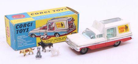 Corgi: A boxed Corgi Toys, Kennel Service Wagon with Four Dogs (Based on the Chevrolet Impala), 486,