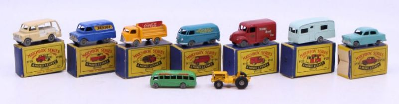 Matchbox: A collection of assorted boxed Matchbox, Moko Lensey 75 Series vehicles to comprise: