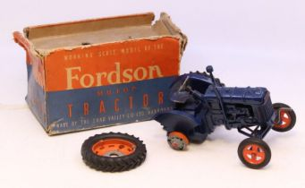 Chad Valley: A Chad Valley Fordson Major Tractor E27N working scale model, within original box,