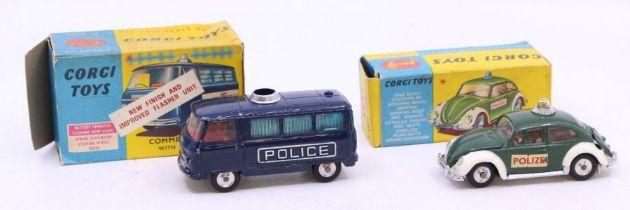 Corgi: A boxed Corgi Toys, Volkswagen European Police Car, 492; together with a boxed Corgi Toys,