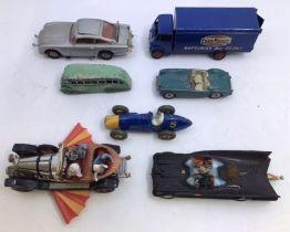 Diecast: Dinky Ever Ready Guy Lorry, Dinky Ferrari, Dinky Coach, Spot On MGA, Corgi James Bond Aston