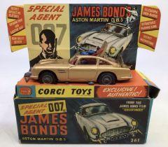 Corgi: A boxed Corgi Toys, Special Agent 007 James Bond's Aston Martin DB5, 261, complete with