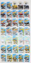 Hot Wheels: A collection of 35 modern Hot Wheels long carded vehicles including various sets: