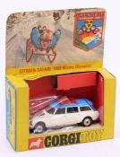 Corgi: A boxed Corgi Toys, Citroen Safari 1968 Winter Olympics, 499, vehicle only, box window
