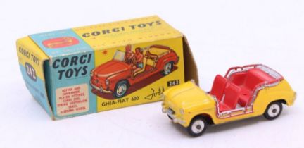 Corgi: A boxed Corgi Toys, Ghia-Fiat 600 Jolly, 242, windscreen is missing, no figures present,