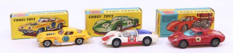 Corgi: A collection of three boxed Corgi Toys vehicles to comprise: Ferrari Berlinetta 250 Le