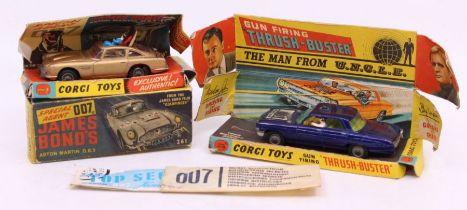 Corgi: A boxed Corgi Toys, James Bond's Aston Martin DB5, 261, box poor, vehicle in need of