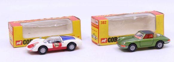 Corgi: A boxed Corgi Toys, Whizzwheels, Porsche Targa 911S, 382; together with another boxed Corgi