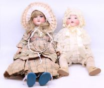 Armand Marseille: An Armand Marseille, bisque head doll, open and close eyes, open mouth, wear to