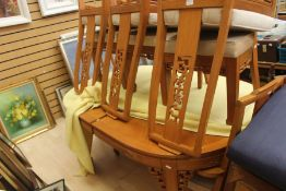 Chinese style modern table and six chairs