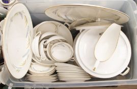 A Royal Worcester Harvest Ring pattern dinner service for eight, including two tureens and covers,