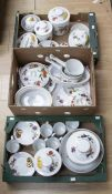 A Royal Worcester 'Evesham' collection of dinner wares, comprising mugs, side plates, biscuit
