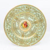 Royal Worcester signed fruit pattern plate