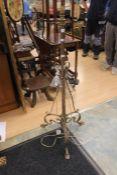 Early 20th Century brass telescope standard lamp