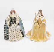 Two Royal Worcester Figures, Queen Elizabeth I in Coronation Robes and Queen Elizabeth I