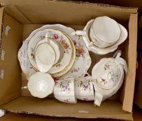 Royal Crown Derby Posies pattern tea set