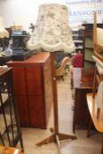 Art Decco light oak standard lamp