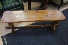 A 1970s refectory style coffee table in oak Condition: No apparent signs of damage or repair aside