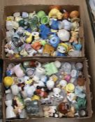 Large quantity of modern 20th Century egg cups