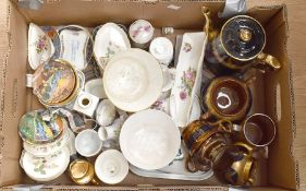 A collection of china wares to include Royal Crown Derby, Wedgwood, Coalport, other early 20th