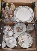 A collection of 20th Century china and dinner wares including Tuscan tea set, Copeland, Wedgwood