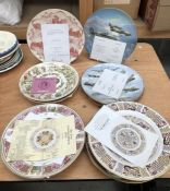 A large collection of commemorative plates and others, to include:- the Coalport 'Bomber Command