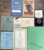 WW2 R.A.F items, including two war time menus for R.A.F Wyton & R.A.F Linton-on-Ouse Christmas