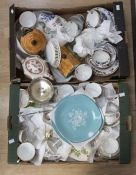 A collection of ceramics to include; Booths, Royal Crown Derby, John Beswick teapot and butter