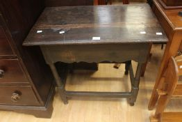 Reproduction 19th Century oak hall table in the early 18th Century style