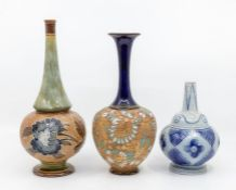 A collection of three Doulton early 20th Century vases