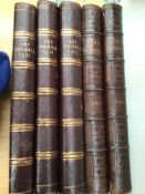 5 Antique Art Journals, dated 1852, 1854, 1855, 1867 and 1868 (leather bound)