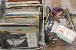 Collection if World postcards including film star postcards signed ie. Deborah Kerr along with